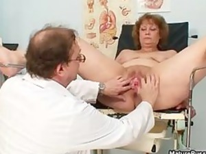 busty doctor abusing a dirty grandma part2