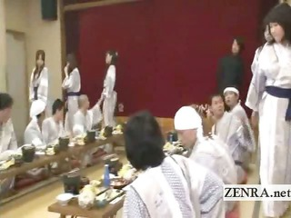 subtitled japanese milfs bunch  foreplay dining