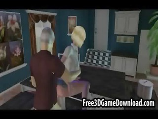 blonde grownup 3d cartoon angel taking her pussy