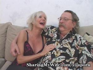 mature duo recruits inexperienced man to help