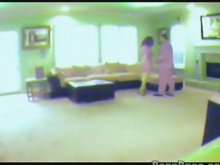 woman caught on hidden spy cam