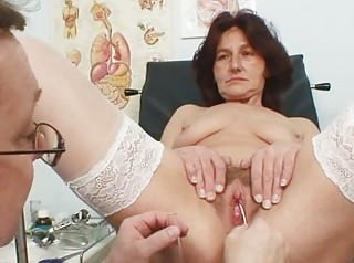 hirsute vagina grandma visits pervy chick medic