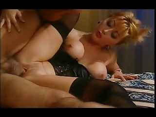 wonderful eastern  housewife inside satin basque