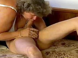wild old woman takes giant libido oral and in her