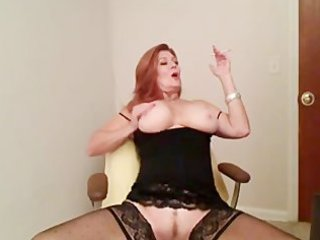 redhead older  smoking and pleasing
