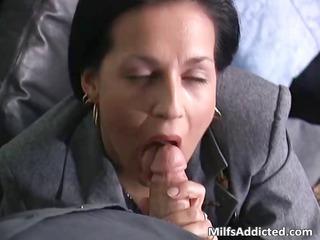 horny brunette woman secretary acquires juicy
