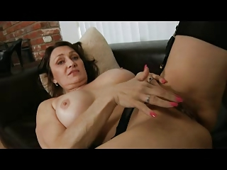 lady fisting into pantyhose