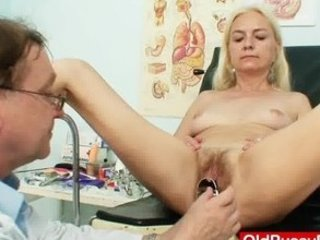thin shaggy elderly belle nurse treatment