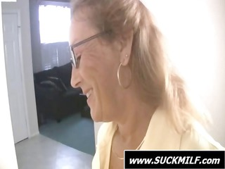 mom into glasses gives those young man a treat