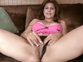 desperate cougar explores her shape