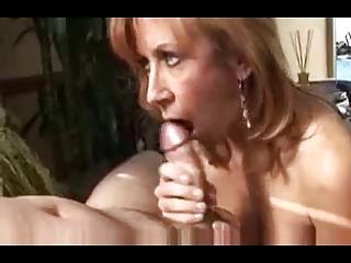 blond milf, green panties super fellatio by rb