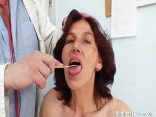 bushy vagina grandma visits pervy slut nurse
