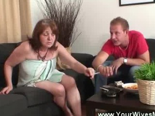 naughty cougar seduces son into law