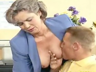 wild elderly woman obtains penis fucked and