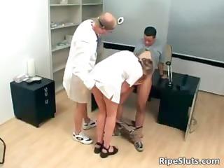 desperate cougar blonde doctor obtains juicy part6