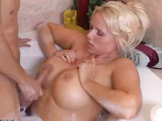 blond milf with large chest obtains fucked on the