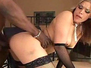 badass woman inside nylons acquires an mixed