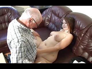 german grandpa makes fresh chick desperate