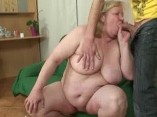 big elderly is fucked by her son on law
