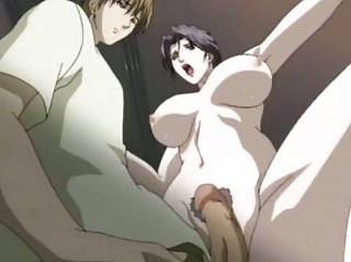 anime lady licking a cock and drinking cum