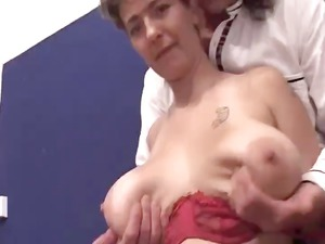 grown-up with large saggy tits sucks and obtains