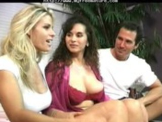 classic ladies three people cougar grownup fuck