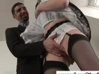 grownup american chick inside nylons acquires