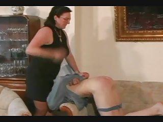 elderly straps and spanks the man pt3