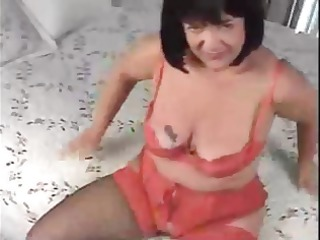 heavy brunette lady acquires gangbanged from