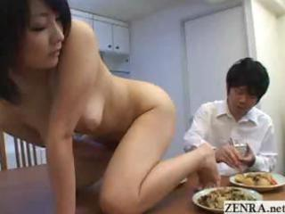 nudist mature babe japanese woman prostrates on