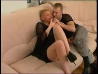 cougar russian super auntie with man
